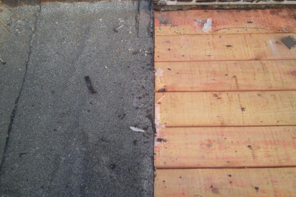 afbraak van roofing